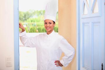 Chef standing in doorway
