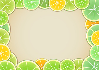 Citrus background. Ready for a text