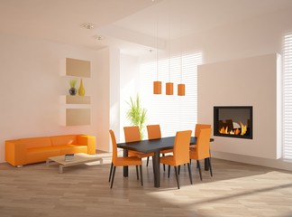 orange interior design