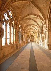 Interior of the famous cathedral of Burgos, Spain