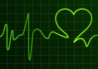 Heart and ecg # Vector