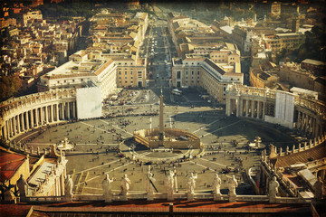 Piazza San Pietro, Vaticano, Roma