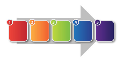 7 step process flow buy this stock illustration and explore
