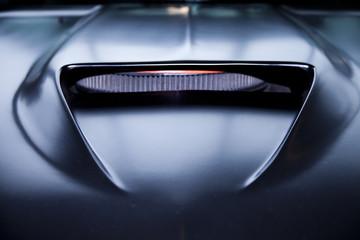 Black car fiber carbon engine hood vent