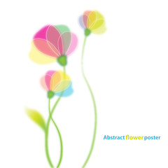 Flower background template with place for your text.