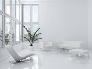 Interno con divani e finestre