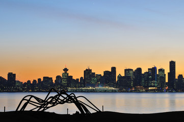 Downtown Vancouver Sunset, viewed from North Shore