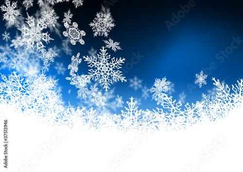 blauer hintergrund abstrakt flocken schnee kristalle. Black Bedroom Furniture Sets. Home Design Ideas