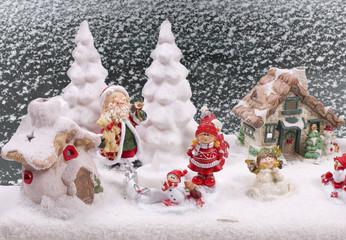 Weihnachtliche Landschaft mit Schnee