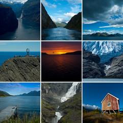 Collage Norwegen Landschaften