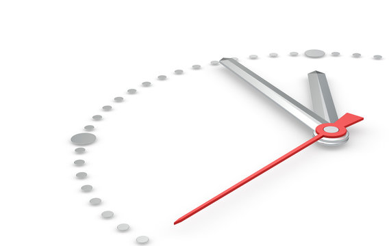Time Concept. Clock at five to twelve. Steel