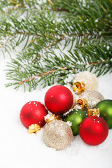Festive Red & Green Christmas Ornaments