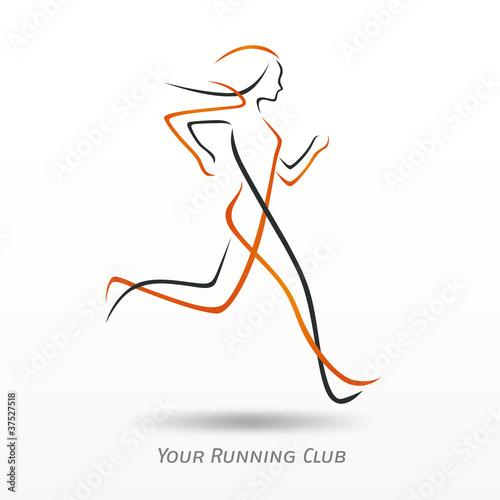 Logo course pied logo sport fichier vectoriel libre - Image coureur humoristique ...