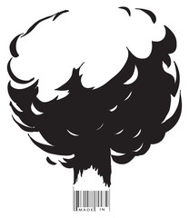Explosion and bar code