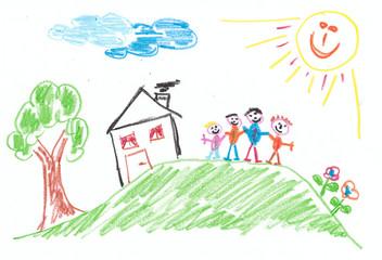 Familie - Vorstellung eines Kindes