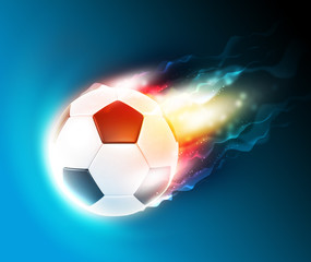 Football flame on the dark blue background
