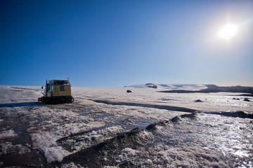 Langjokull glacier in southern Iceland