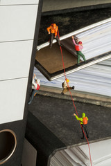 Miniature Mountaineers Climbing Office Files