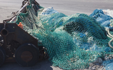 Trawl net for bottom trawling