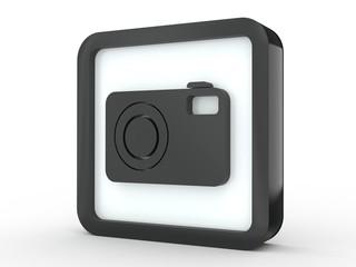 Button Fotokamera schwarz