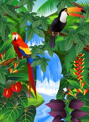 Beauiful tropical background