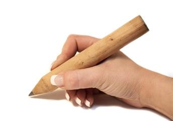 écrire a crayon en bois