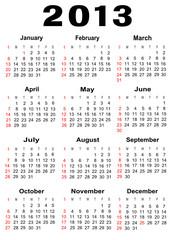 calendar 2013,vector file