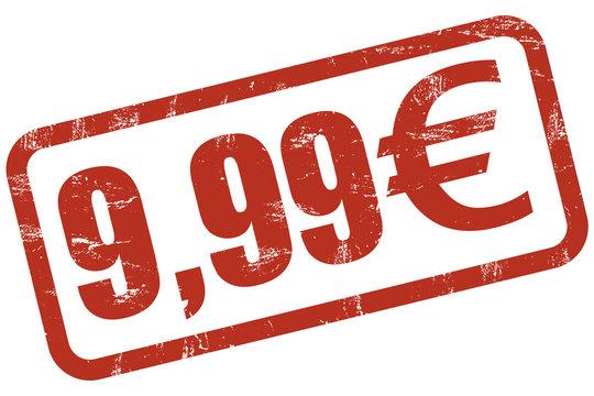 Grunge Stempel rot 9,99 EURO