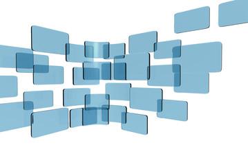 touch screen interface blue glass