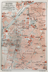 Vintage map of Cairo