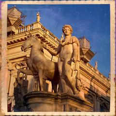 Campidoglio, musei capitolini, Roma, dioscuro