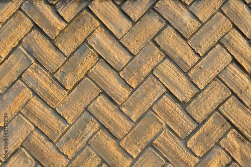 Ladrillos colocados en espiga pavimento z calo for Hormigon impreso jerez