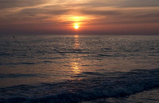 Sunset over St Pete Beach near St Petersburg Florida USA