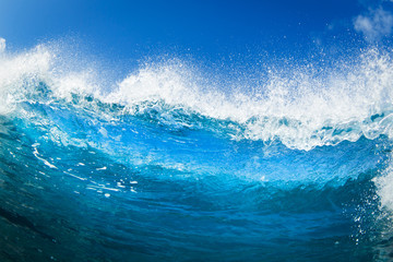 Wall Mural - Blue Ocean Wave
