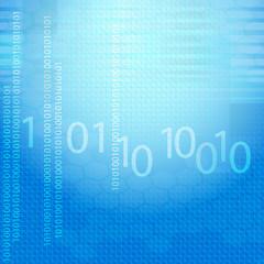 binärcode blau hintergrund