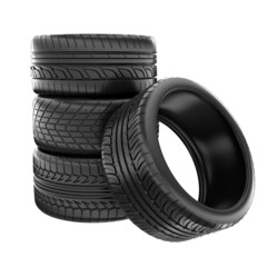 tires isolated on white