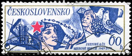 CZECHOSLOVAKIA - CIRCA 1979 Peace Movement