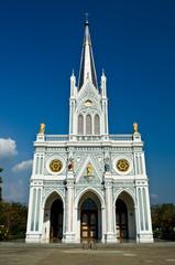 white church, Samut Songkhram, thailand