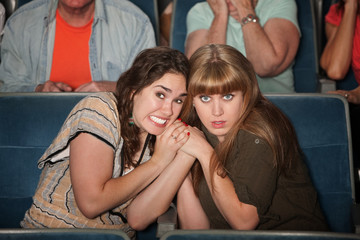 Scared Women In Theater