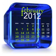 Blue February Calendar