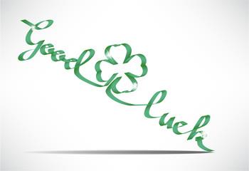 Vector Good luck wish