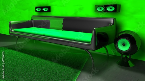 gr nes wohnzimmer stockfotos und lizenzfreie bilder auf bild 37601113. Black Bedroom Furniture Sets. Home Design Ideas