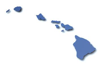 Karte von Hawaii - USA