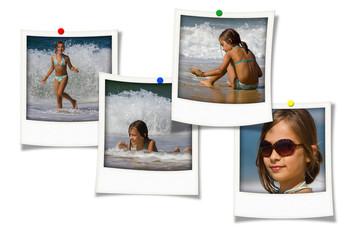 souvenirs de vacances à la plage