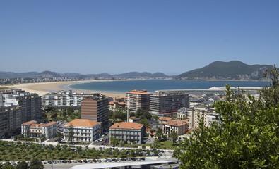 Vista de la playa de Laredo en Cantabria (España)