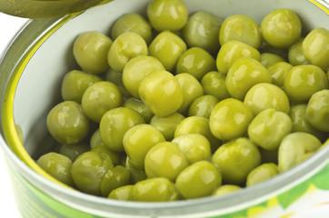 jar of preserved green peas