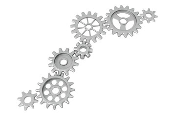 Different Cogwheels isolated on white background