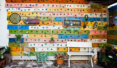 bench in the garden home