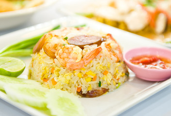 fried rice with shrimp