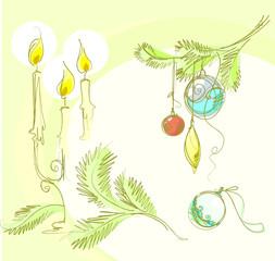 set of designer images for Christmas